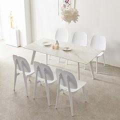 트리빔하우스 로레인 세라믹 1600 테이블 식탁 세트(의자6P)_TB20O80