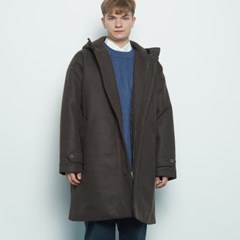 M217 wool hood coat brwon