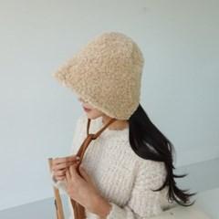 턱끈 뽀글이 무지 기본 블랙 보넷 버킷햇 벙거지 모자