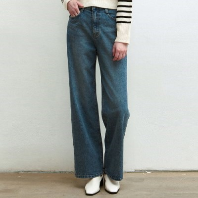 NATURAL WASHED WIDE JEANS_BLUE
