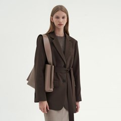 CLASSIC OVER BELTED JACKET_BROWN