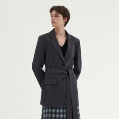 CLASSIC OVER BELTED JACKET_GRAY