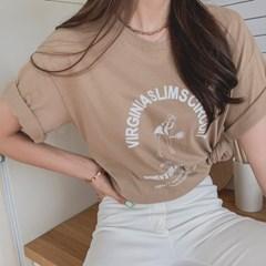겟잇미 티베 프린팅 여름 반팔 데일리 티셔츠