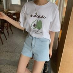 겟잇미 지린 프린팅 여름 데일리 반팔 티셔츠