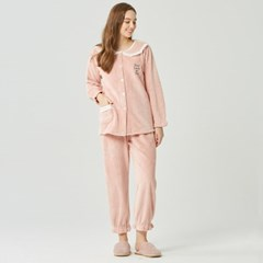 여성 수면잠옷 양털 빅사이즈 홈웨어 레터링 밍크 파자마세트