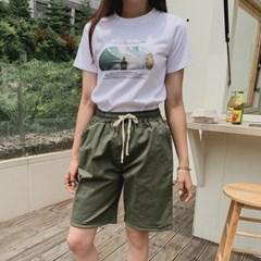 겟잇미 파비 레터링 반팔 데일리 티셔츠