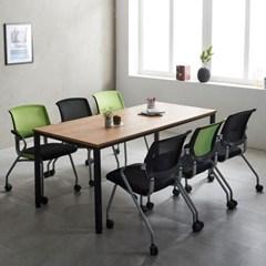 T4 로디 1800 테이블세트 6인용테이블 사무용테이블