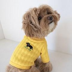 Black Dog Collar Tee(Yellow)