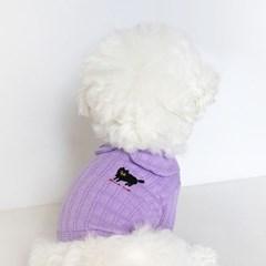 Black Cat Collar Tee(Purple)