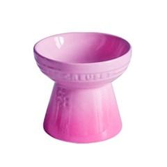 르쿠르제 강아지 고양이 식기 도자기 밥그릇 A 핑크