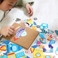 유아 아동 못박기 놀이 그림맞추기 퍼즐 장난감 H