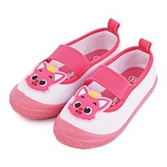 핑크퐁 캔버스 실내화 어린이 유치원 핑크 신발