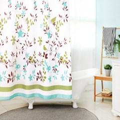 욕실 방수 샤워커튼+커튼링 방수막 (플랜트)