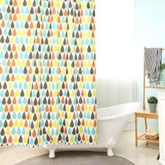 욕실 방수 샤워커튼+커튼링 방수막 (워터드랍)