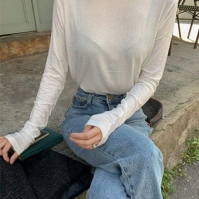 캐디 슬릿 라운드 티셔츠