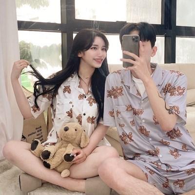 청년잠옷 오버핏 베어 커플잠옷