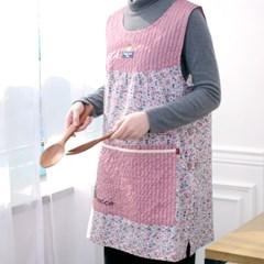 잔꽃물결 포켓 앞치마