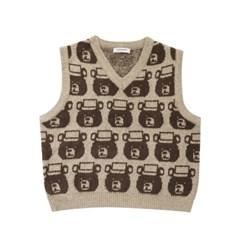 lobby bear boucle vest beige