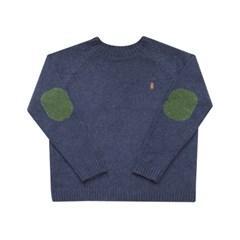 lobby bear embroidery pullover navy