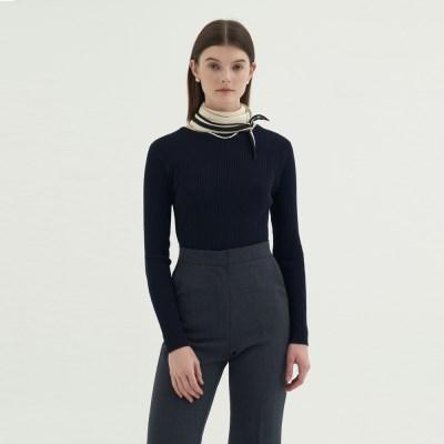 Round Slim golgi knit - Navy