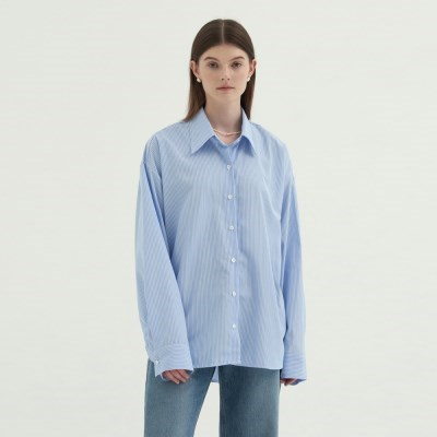 Standard Stripe Shirts - Sky blue