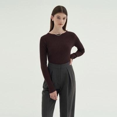 Round Slim golgi knit - Brown