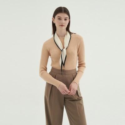 Round Slim golgi knit - Beige