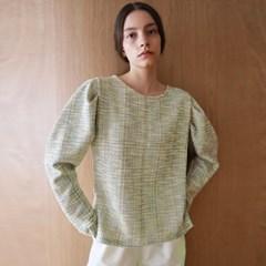 트위드 퍼프 그린 티셔츠_Tweed Puff Green TS
