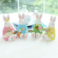 니트 입은 앉은 토끼 4color