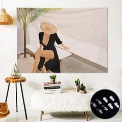 인테리어 벽장식 소품 패브릭 포스터 가리개 커튼