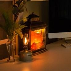 바나나빌딩 불멍 LED 램프 특대형
