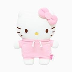 헬로키티 후드 허그미쿠션 핑크