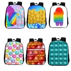 푸쉬팝 팝잇 프린팅 백팩 책가방 아동 학생 패션가방 H