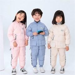 유아 아동 구스다운 자켓 바지 패딩 상하의 세트 H