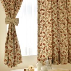 작은창가리개커튼- 따뜻한 소담꽃(창문형/긴창형)