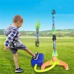 스펀지 에어로켓 날리기 발사 발로켓 아동 장난감  H
