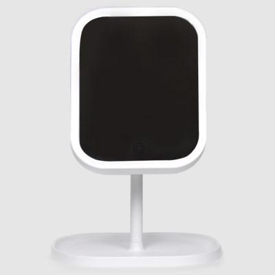 터치링 LED 조명 거울 라운드 메이크업 화장대 세로형
