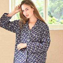 여성긴팔잠옷 네이비플라워 긴소매 페어 7024(여성)