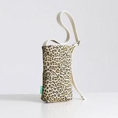 텀블러 에코백 줄조절 미니백 60 레오파드 표범 - leopard beige