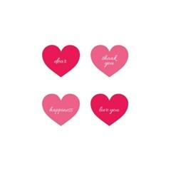 핑크 하트 포장 스티커 (2장)