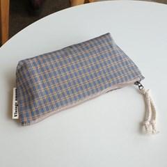 pencil case 빈티지체크#03
