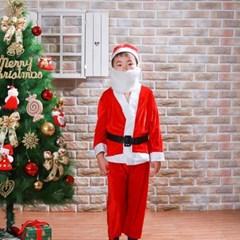 고급 어린이 산타복 풀세트 산타수염 코스프레의상