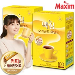 맥심 모카골드 솔루블 블랙커피 100+100T (커피만) /커피