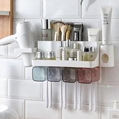 욕실 칫솔 양치컵 면도기 걸이 꽂이 치약짜개 선반