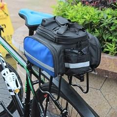 3way 자전거 패니어 짐받이가방(블루) 대용량 투어백
