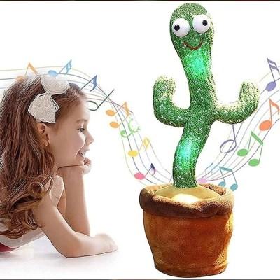 kc인증 LED 불빛 춤추는 선인장 인형 말따라하는 녹음기능 노래하는