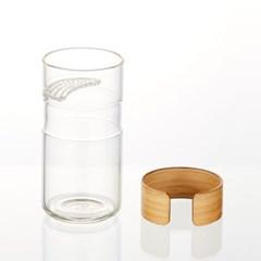 [1111210] LDB010 대나무 손잡이 유리 거름망 컵 250ml