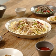 피노 타원 접시 디저트 그릇