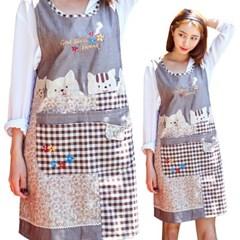 남녀공용 예쁜 고양이 원피스 앞치마