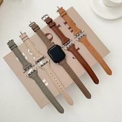 애플워치 가죽 슬림 스트랩 루프 밴드 시계줄 44mm